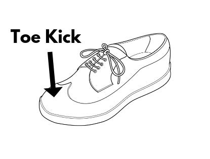 hacky sack footbag toe kick